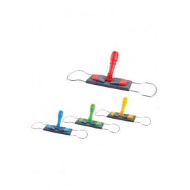 CD186-B Держатель мопов рамочный, 50х14 см, 2 педали, металл, серый, синий